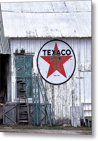 Texaco Times Past Metal Print