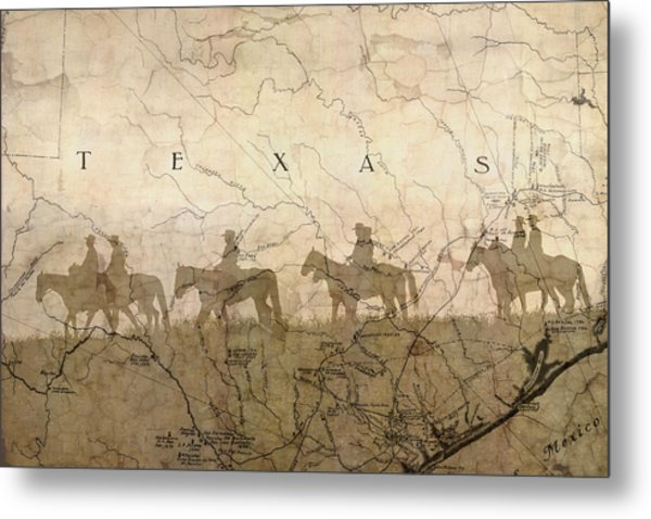 Texas And The Army Metal Print
