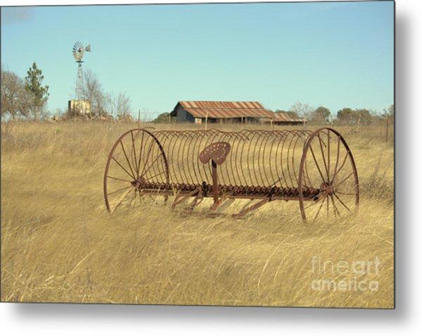 Texas Hill Country Farmscape Metal Print by Joe Pratt