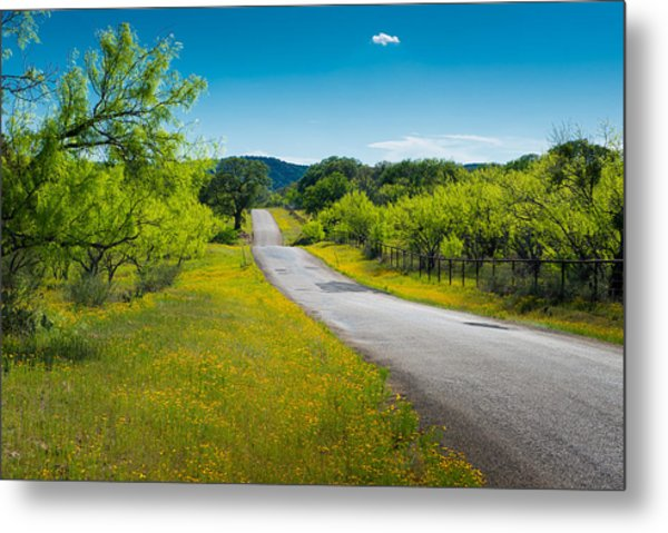 Texas Hill Country Road Metal Print
