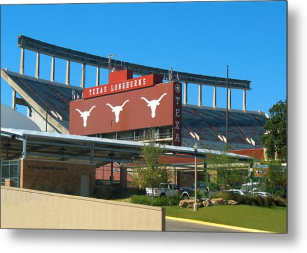 Texas Memorial Stadium - U T Austin Longhorns Metal Print