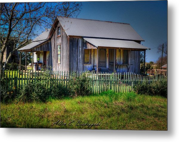 Texas Old Homestead Metal Print
