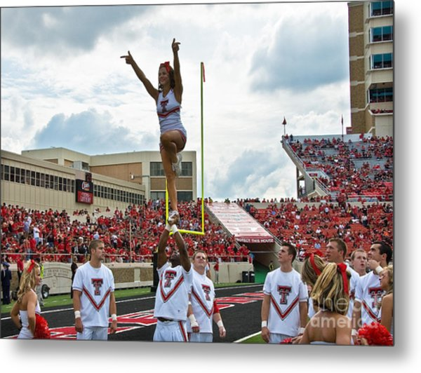 Metal Print featuring the photograph Texas Tech Cheerleaders by Mae Wertz