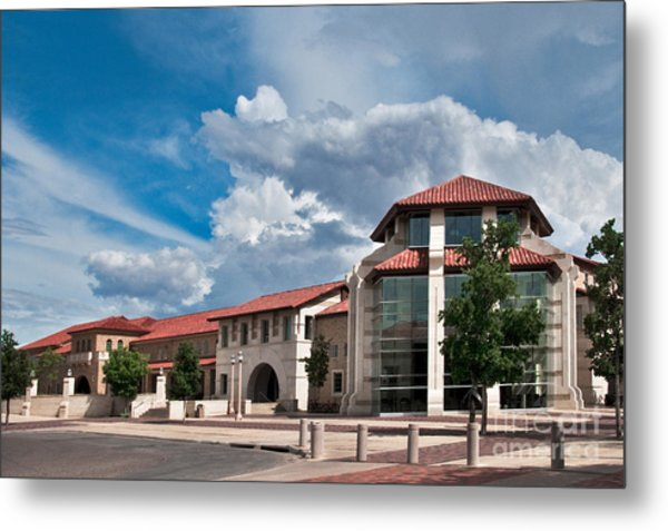 Metal Print featuring the photograph Texas Tech Student Union by Mae Wertz