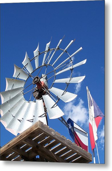 Texas Windmill Metal Print