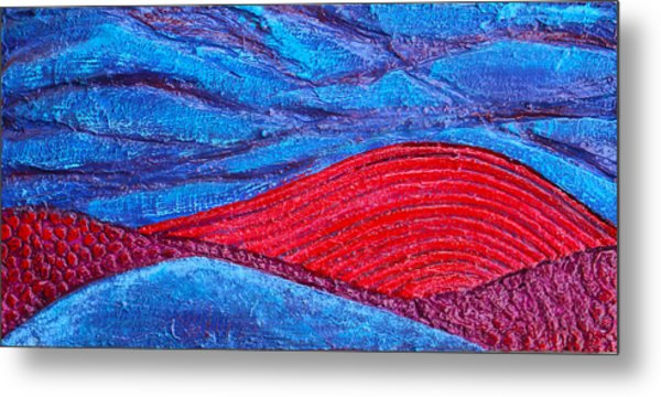 Texture And Color Bas-relief Sculpture #2 Metal Print