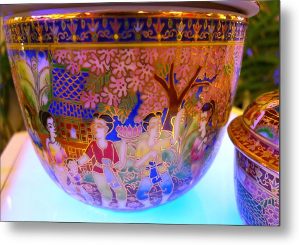 Thai Design Ceramics Metal Print