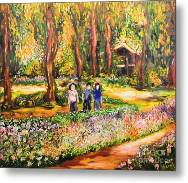 Thai Flower Garden Metal Print