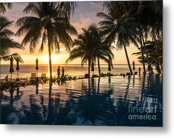 Thai Sunset Metal Print