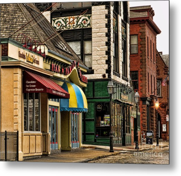 Thames Street Before The Crowds Come Metal Print