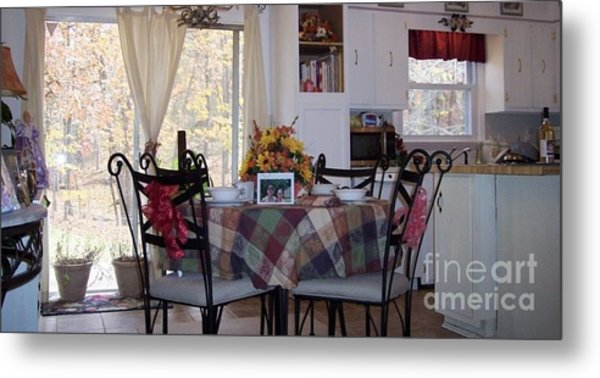 Thanksgiving 2010 By Angelia H Clay Metal Print