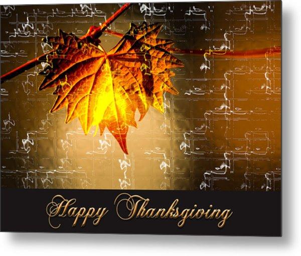 Thanksgiving Card Metal Print