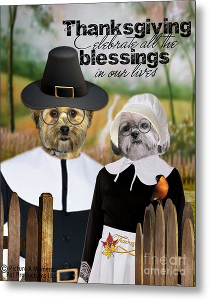 Thanksgiving From The Dogs Metal Print
