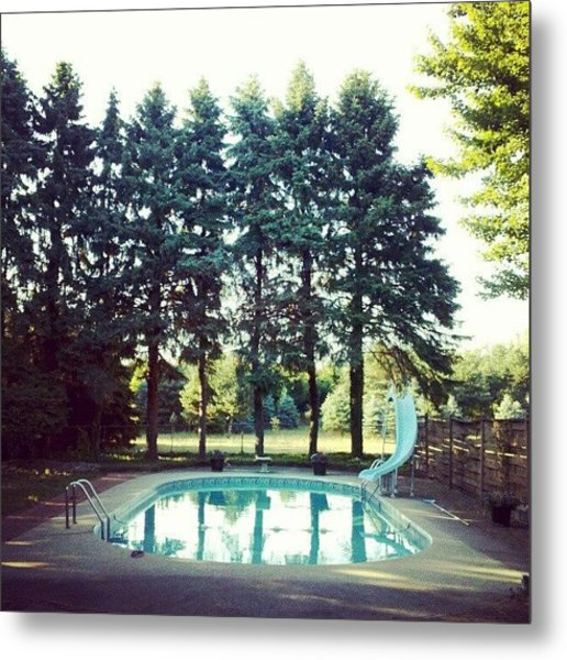 That Pool Looks Nice And Cool Metal Print