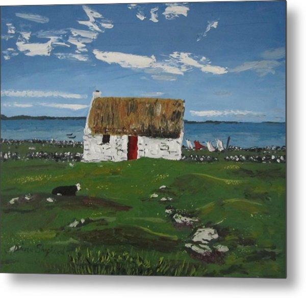 Thatch Cottage Ballyconneelly Connemara Ireland Metal Print