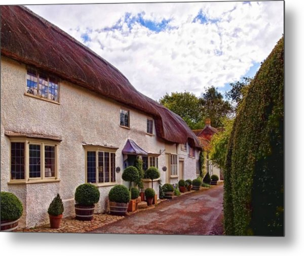 Thatched Cottage -2 Metal Print