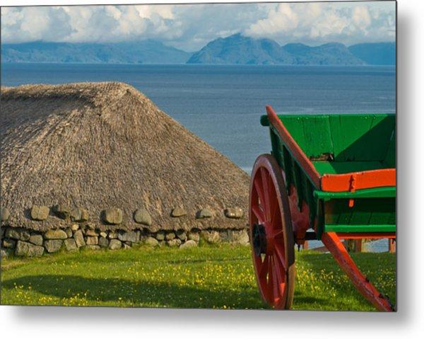 Thatched Cottage In Kilmuir Isle Of Skye Metal Print by David Ross