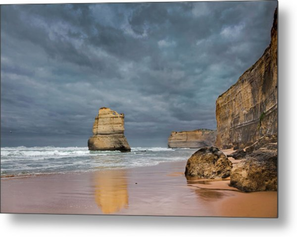 The 12 Apostles, Seen From The Beach Metal Print