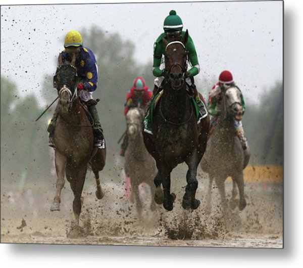 The 141st Running Of The Preakness Metal Print by Rob Carr
