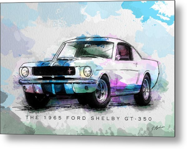 The 1965 Ford Shelby Gt 350  Metal Print