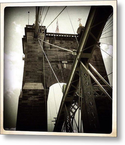 The 1st brooklyn Bridge Metal Print