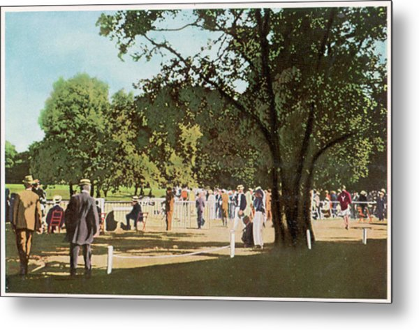 The 500 Metre Race Is Run In  The Bois Metal Print by Mary Evans Picture Library
