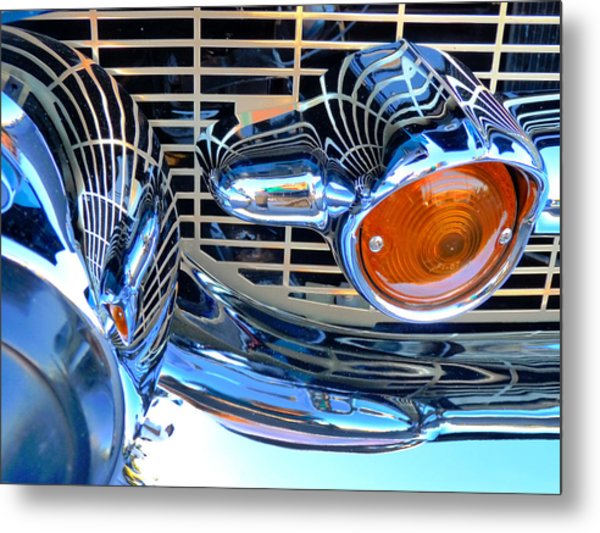 The 57 Chevy Grill Metal Print