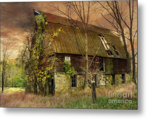 The Abandoned Barn Metal Print