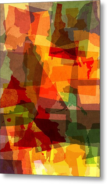The Abstract States Of America Metal Print
