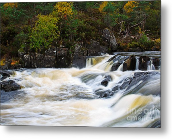 The Affric River In Glen Affric Metal Print