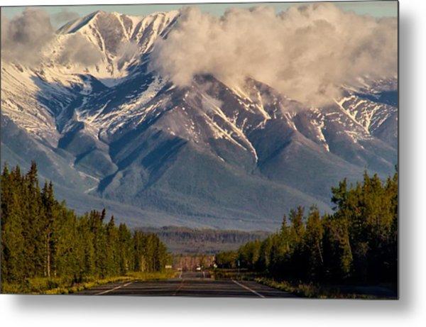 The Alaska Highway Tok Junction Alaska Metal Print