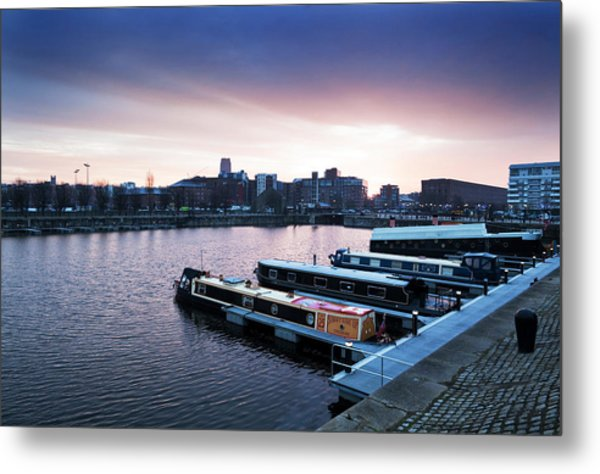 The Albert Dock, Liverpool, England Metal Print