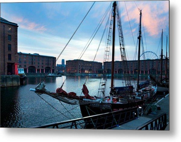 The Albert Dock, Liverpool, Merseyside Metal Print