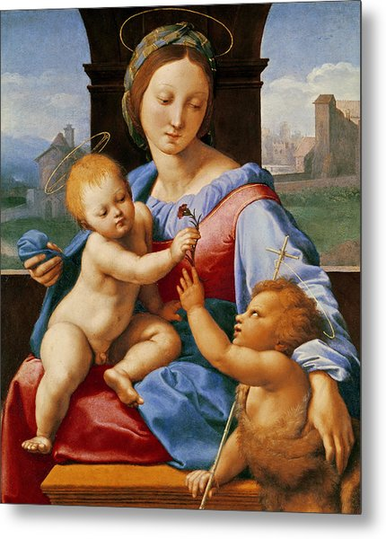 The Aldobrandini Madonna Or The Garvagh Madonna Metal Print