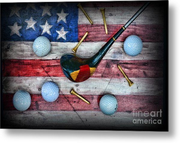 The All American Golfer Metal Print