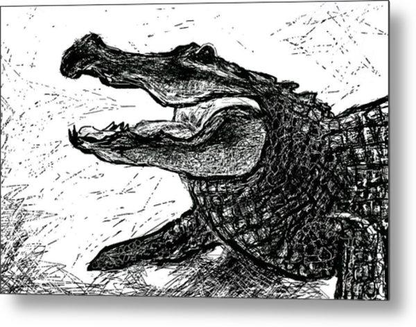 The Alligator Metal Print