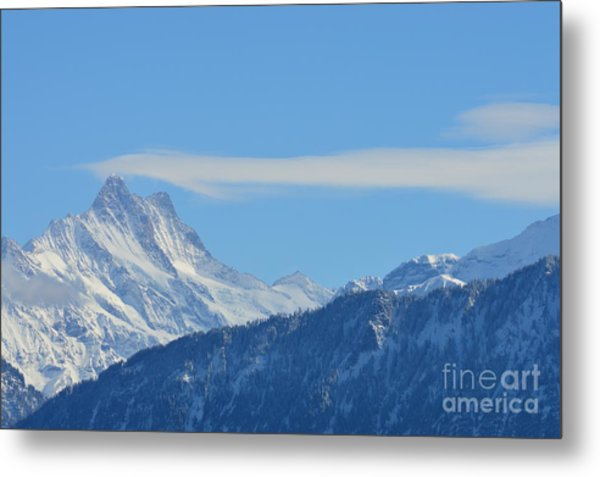 The Alps In Azure Metal Print