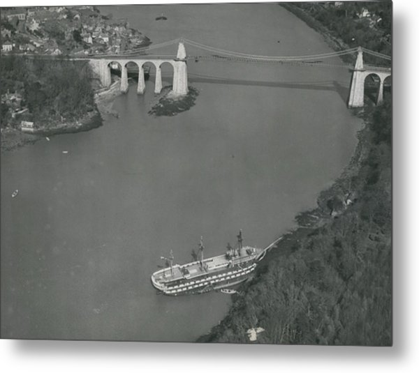 The Ancient Warship Goes A Ground Near The Mena I Metal Print by Retro Images Archive