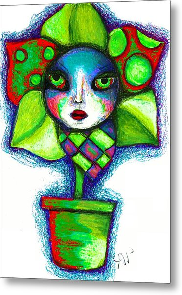 The Angrier Flower Ver 1 Metal Print by Angie Phillips
