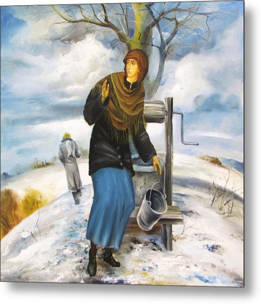 The Annunciation Metal Print by Mikhail Zarovny
