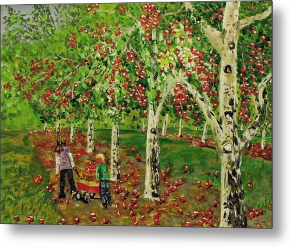 The Apple Pickers Metal Print