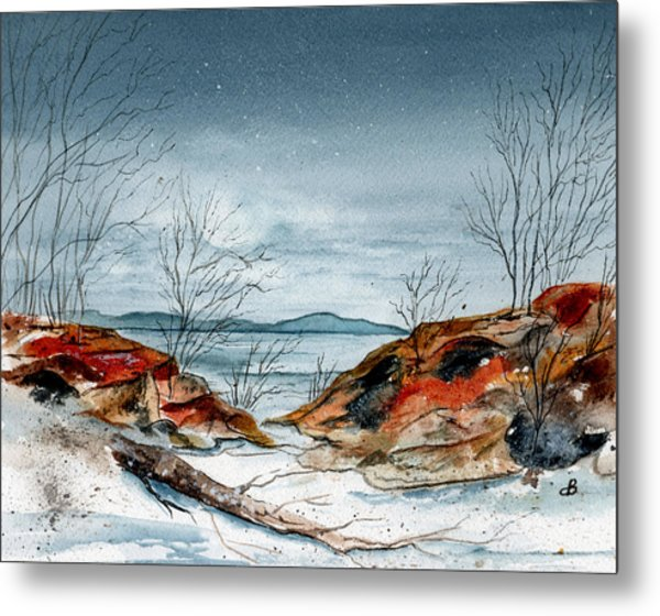 The Approaching Evening Metal Print