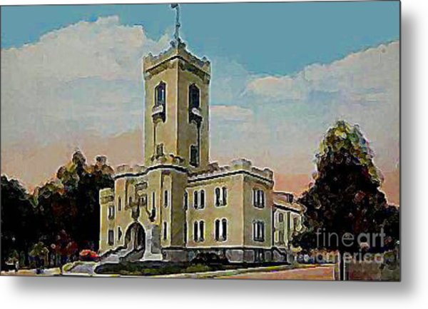 The Armory In White Plains Ny 1923 Metal Print by Dwight Goss