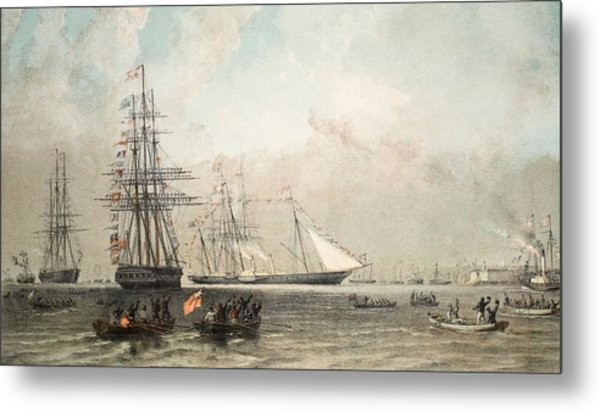 The Arrival Of The Royal Yacht Metal Print