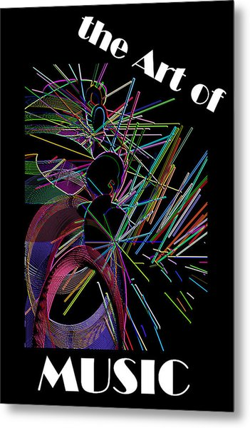 The Art Of Music With Spy Metal Print