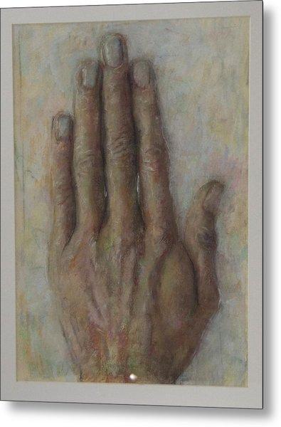 The Artist Hand Metal Print