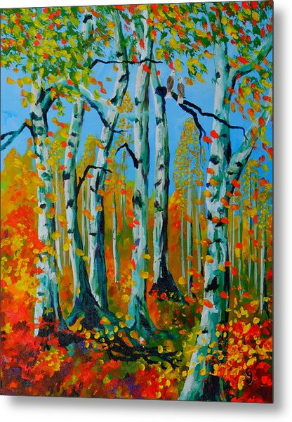 The Aspens Metal Print