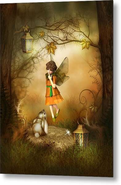 The Autumn Fairy Metal Print