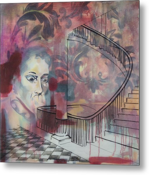 The Back Stairs Metal Print by Stacey Sherman
