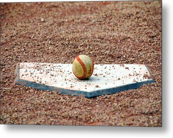 The Ball Of Field Of Dreams Metal Print